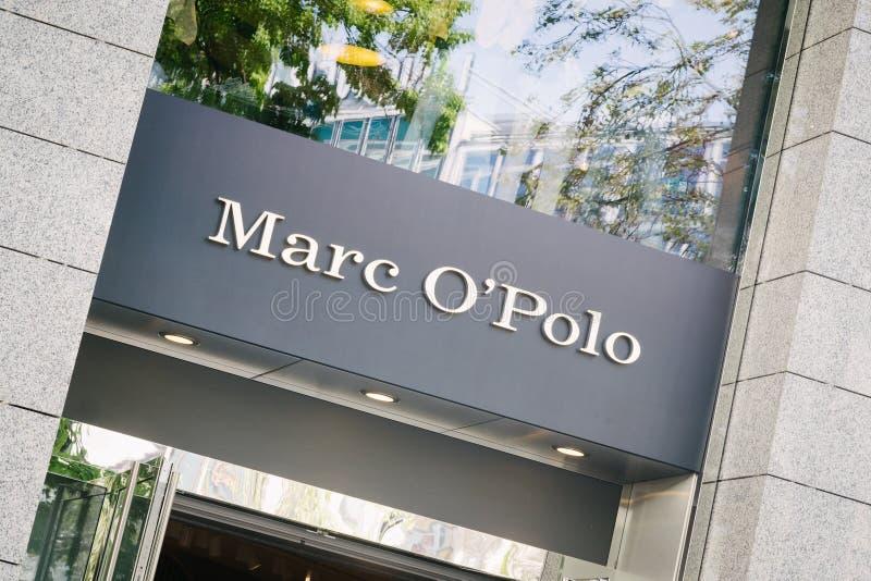 Logo för polo för Marc nolla-` på lagerframdel royaltyfri bild