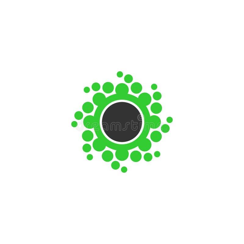 Logo för prickcirkelvektor royaltyfri illustrationer