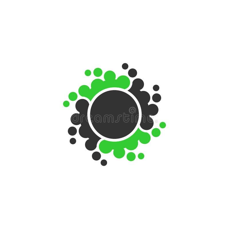 Logo för prickcirkelvektor stock illustrationer