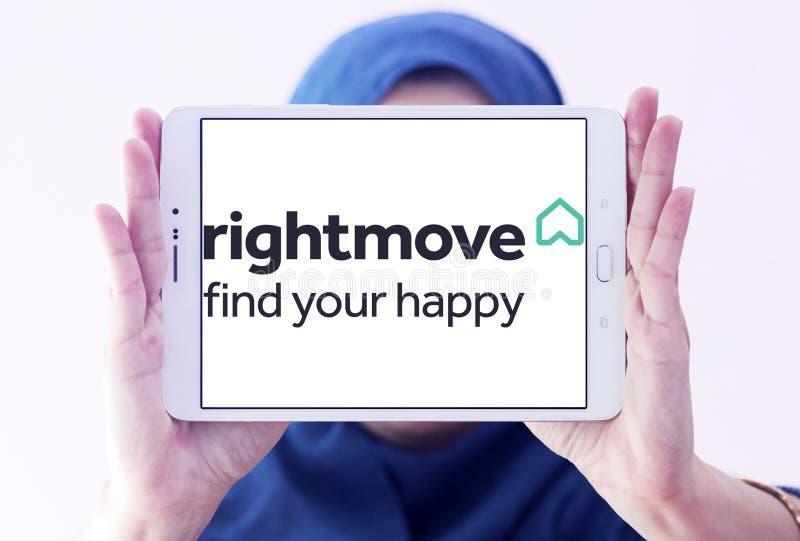 Logo för Rightmove fastighetföretag fotografering för bildbyråer
