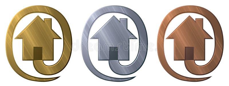 Logo för säkert hus royaltyfri illustrationer