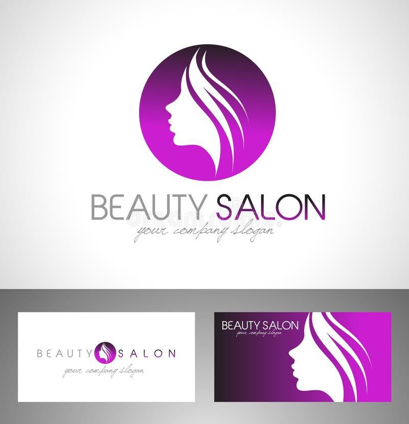 Logo för skönhetsalong vektor illustrationer