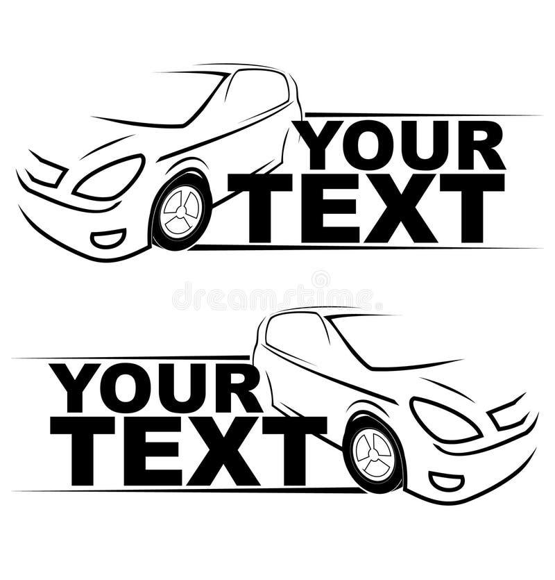 Logo för springa för bil auto royaltyfri illustrationer