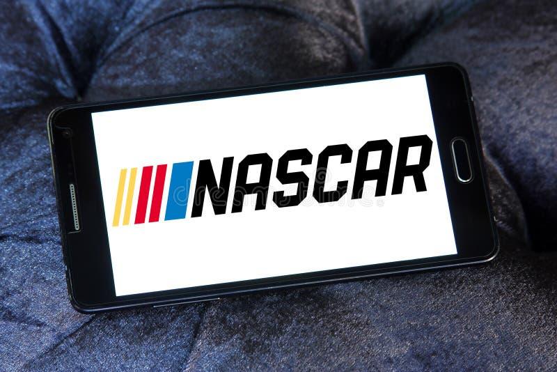 Logo för springa för NASCAR auto royaltyfria bilder