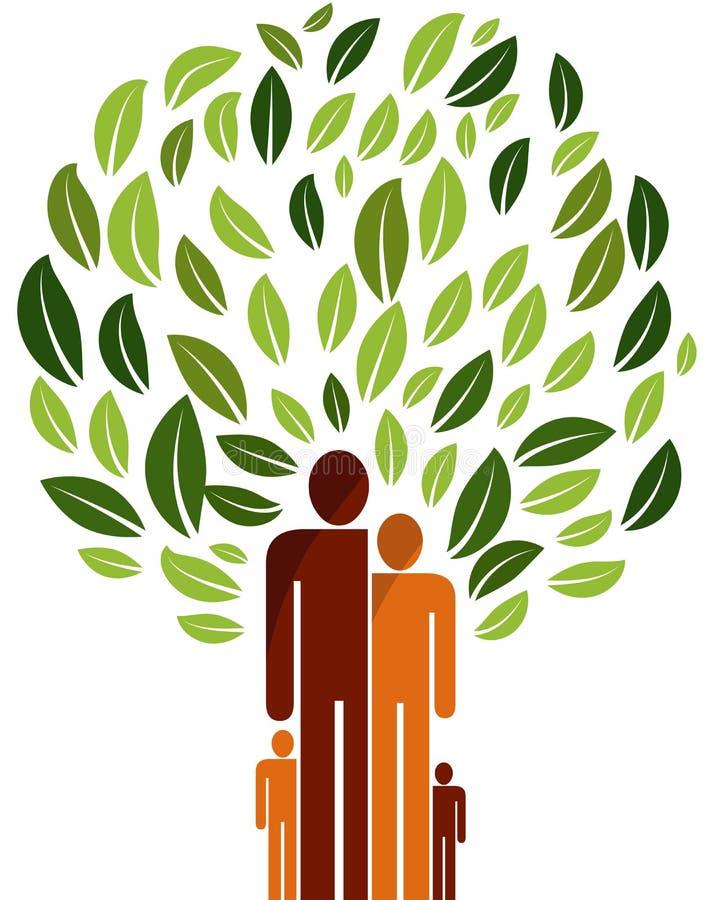Logo för stamträdvektorillustration royaltyfri illustrationer