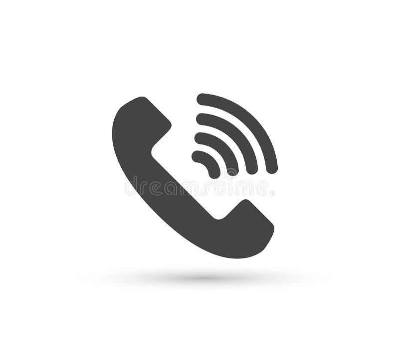 Logo för stil för vektor för telefonvektorsymbol plan Telefonlur med skuggaillustrationen Lätt redigera av illustrationen Smartph stock illustrationer