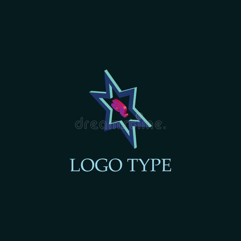 Logo för stjärnabokstav A 3d stock illustrationer