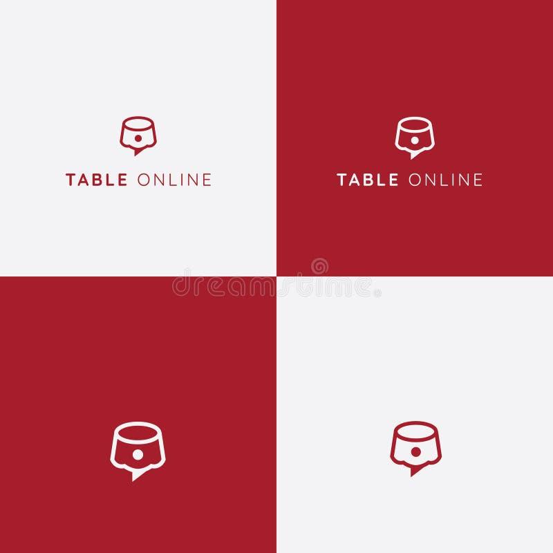 Logo för tabellreservationsvektor panera kallat klippa restaurangen för fotoet för mrcajevcien för meat för logoen för festivalma stock illustrationer