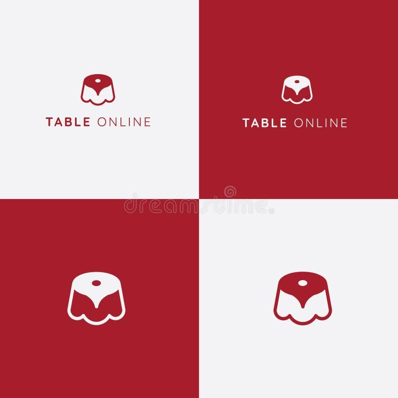 Logo för tabellreservationsvektor panera kallat klippa restaurangen för fotoet för mrcajevcien för meat för logoen för festivalma royaltyfri illustrationer