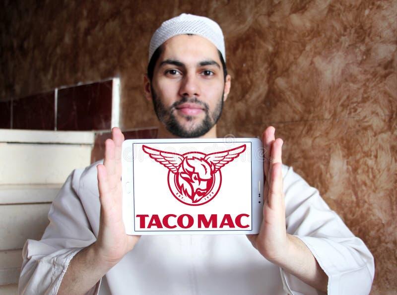 Logo för tacoMac-restauranger royaltyfri foto