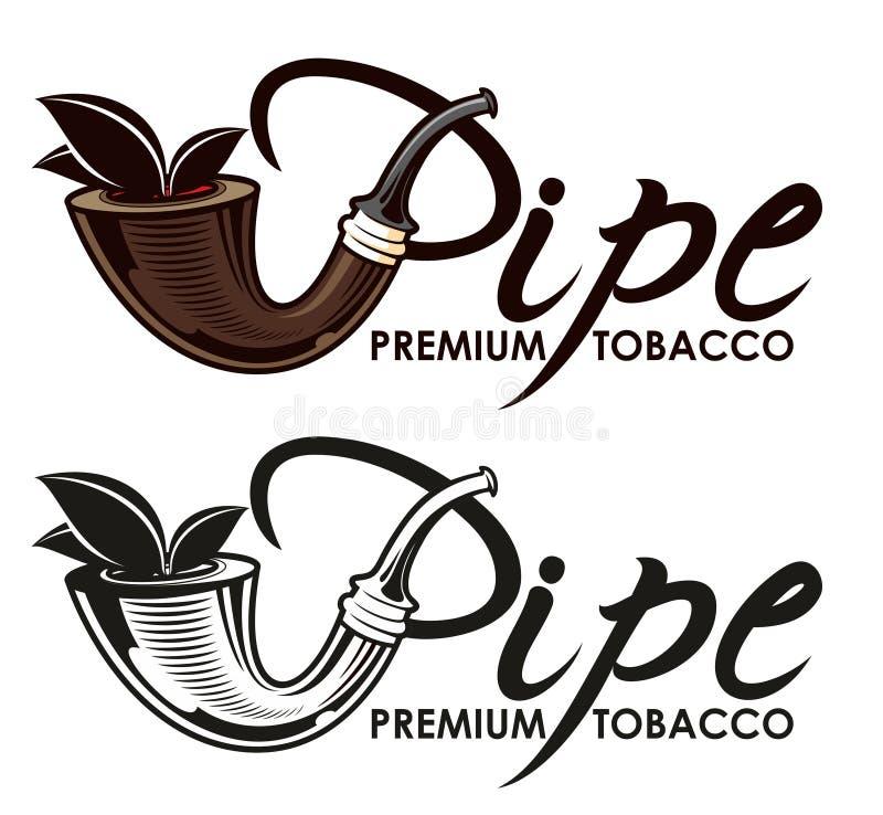 Logo för tobakrör stock illustrationer