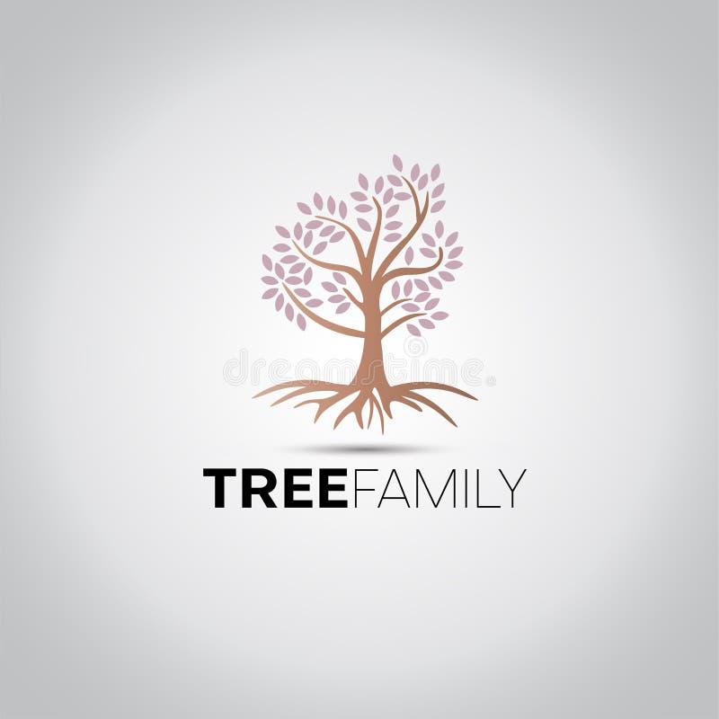 Logo för trädfamiljvektor vektor illustrationer