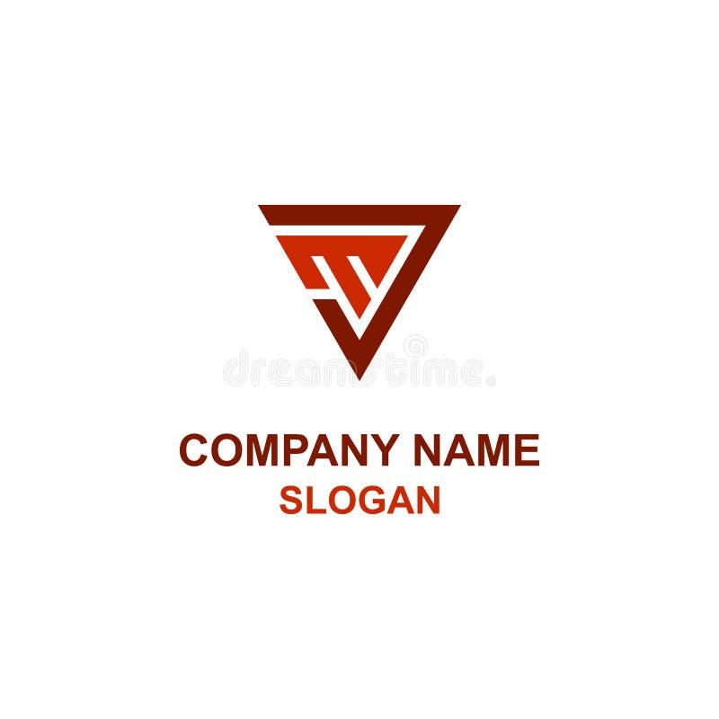 Logo för triangel för JM-bokstavsinitial royaltyfri illustrationer