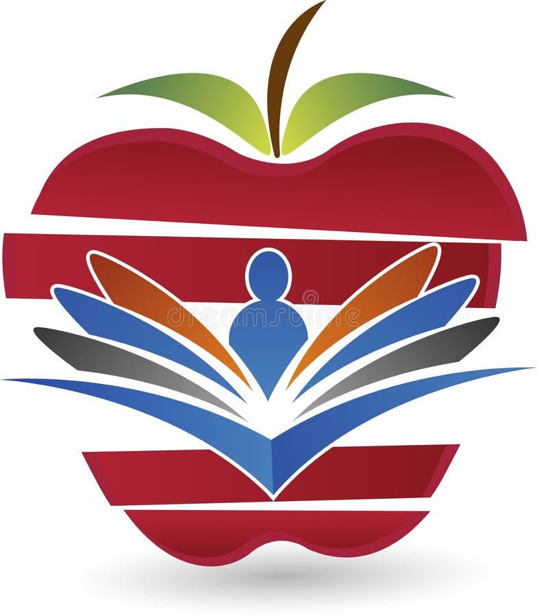 Logo för vård- utbildning vektor illustrationer