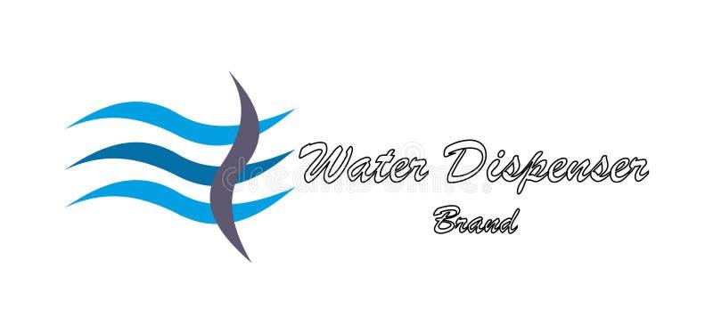 Logo för vattenföretag stock illustrationer
