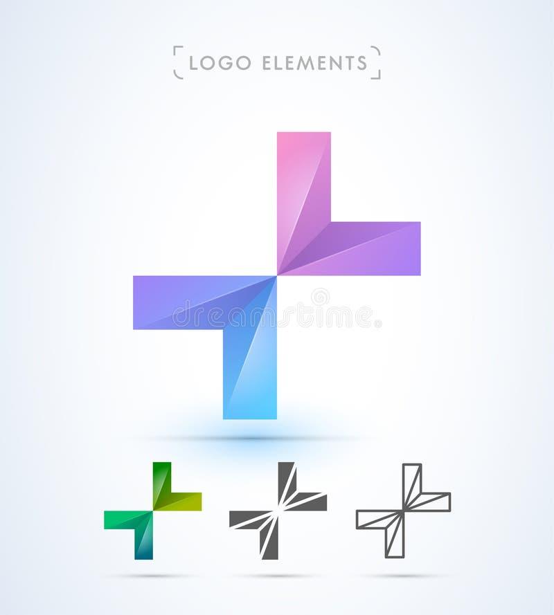 Logo för vektorabstrakt begreppbokstav X vektor illustrationer