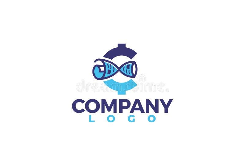 Logo för vektorkvarterkedja vektor illustrationer
