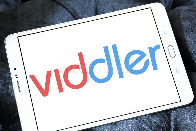 Logo för Viddler online-videoservice arkivfoto