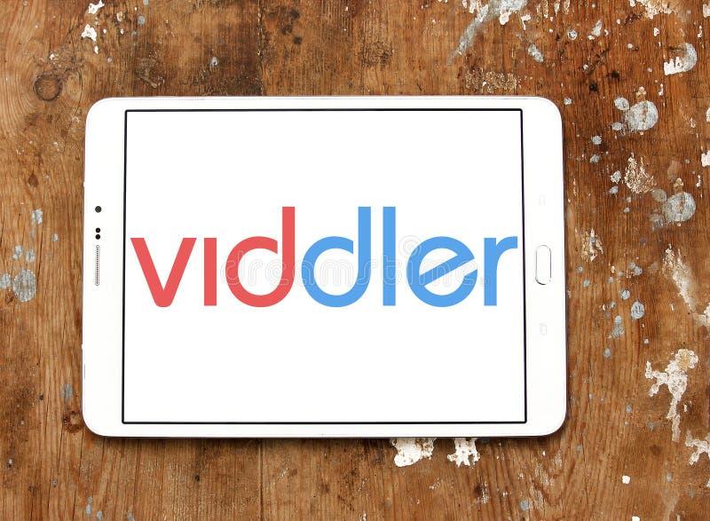 Logo för Viddler online-videoservice arkivfoton
