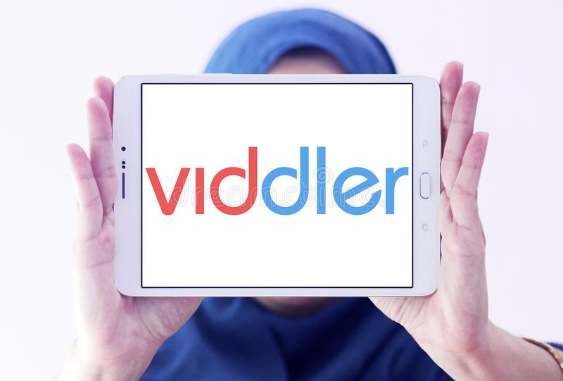 Logo för Viddler online-videoservice royaltyfri fotografi