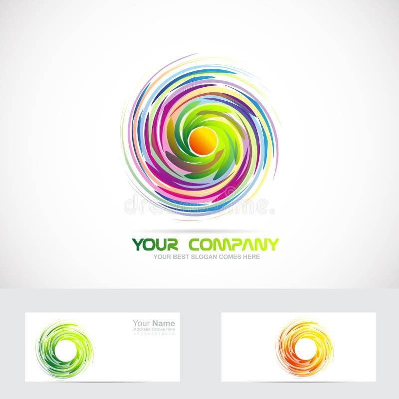 Logo för virvelaktivitetbubbelpool vektor illustrationer