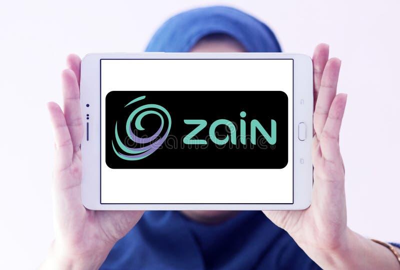 Logo för Zain telekommunikationföretag fotografering för bildbyråer