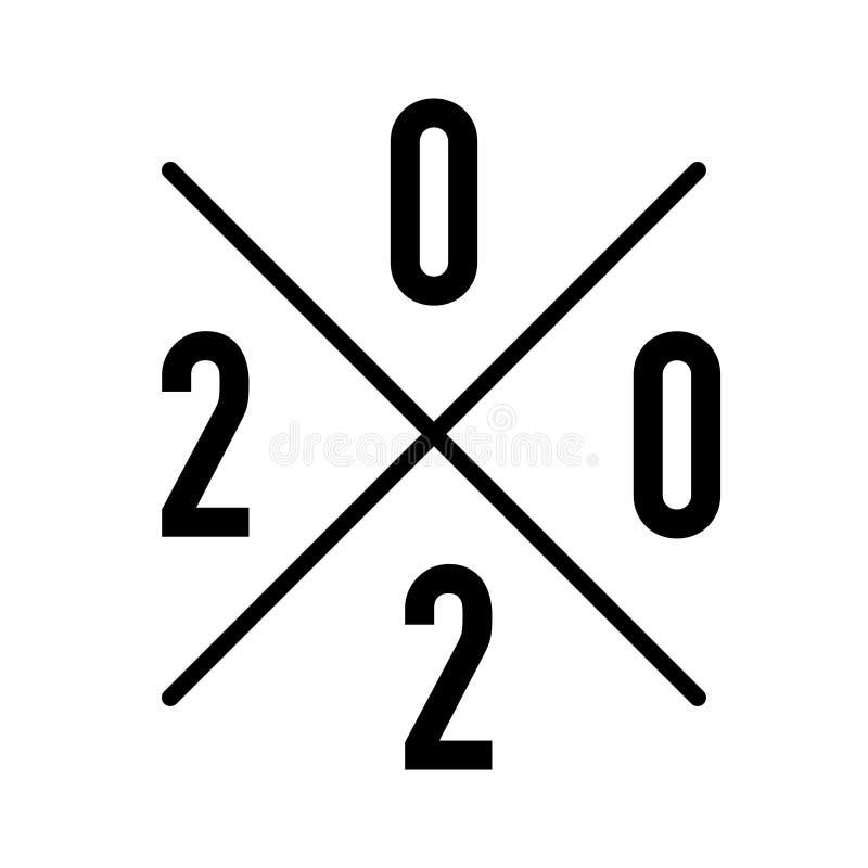 Logo für anwesende oder hergestellte Jahranzeige stock abbildung