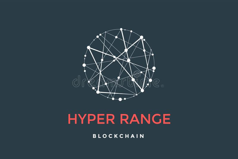 Logo für blockchain Technologie lizenzfreie abbildung