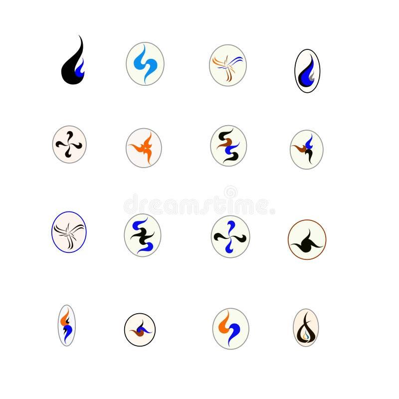 Logo 16 für Geschäft stock abbildung