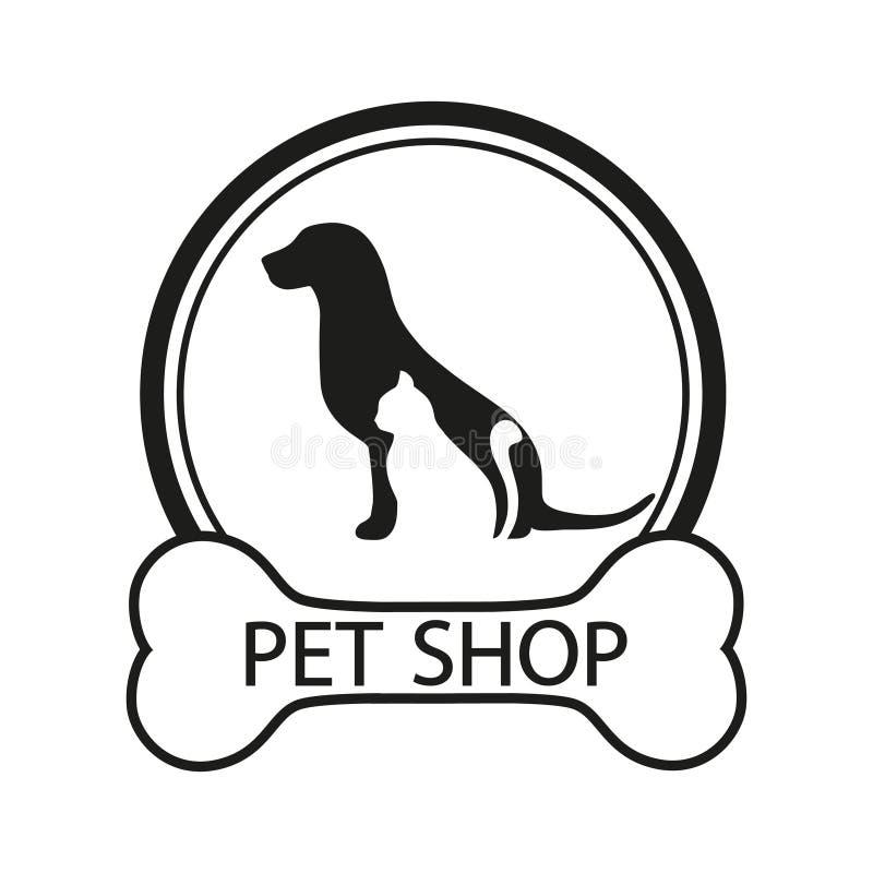 Logo für Geschäft für Haustiere, Veterinärklinik, Tierheim, entwarf Linien einer in den modernen Art lizenzfreie abbildung