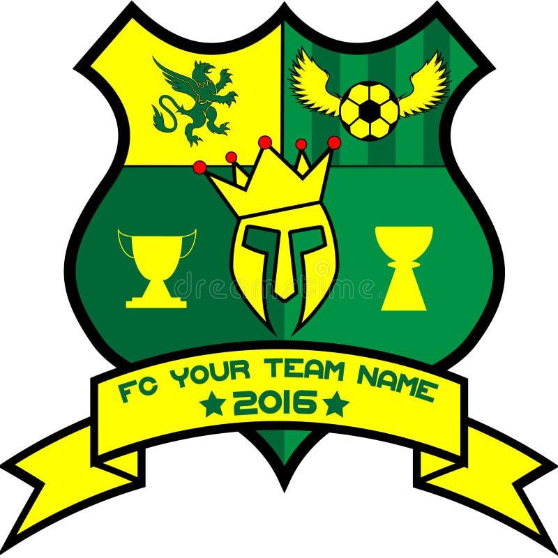 Logo für Ihr Fußballteam lizenzfreie stockfotografie