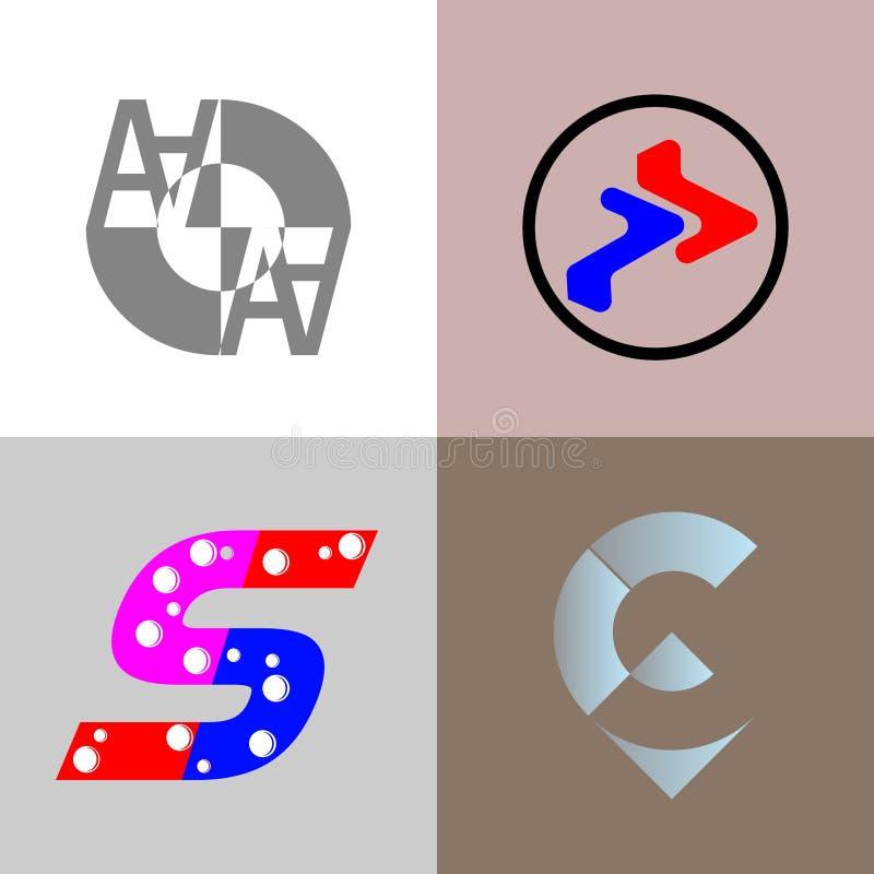 Logo für Marke oder Geschäft stockbild