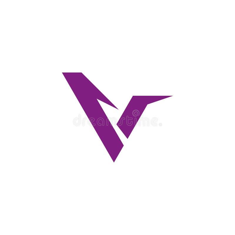 Logo f?r bokstav V royaltyfri illustrationer