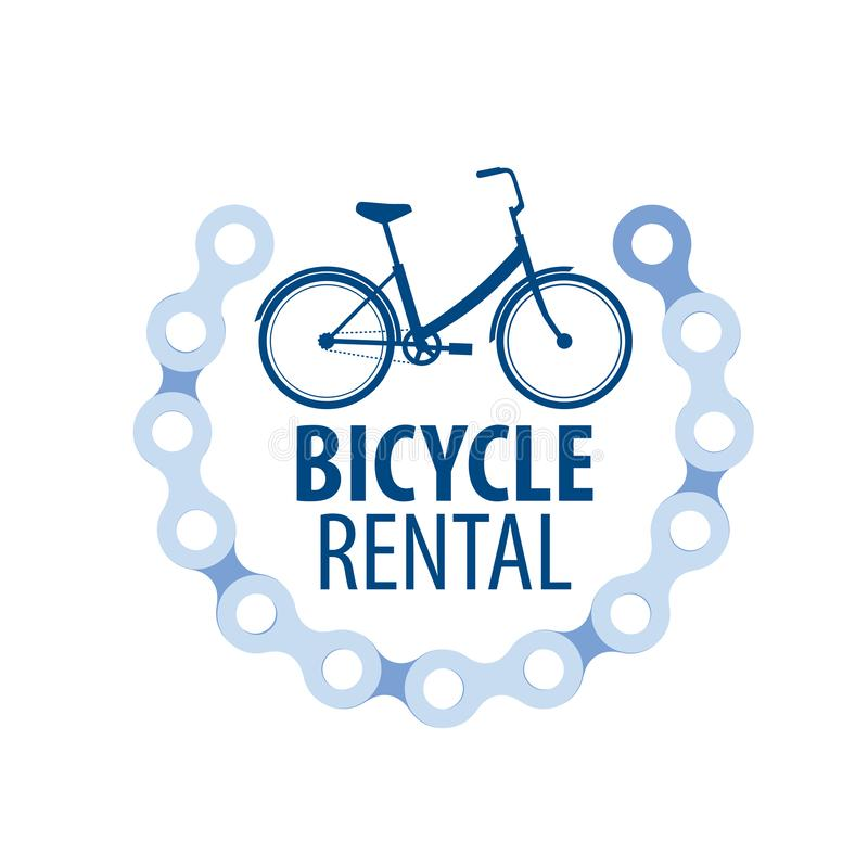Logo f?r cykelhyra white f?r vektor f?r bakgrundsillustrationhaj vektor illustrationer