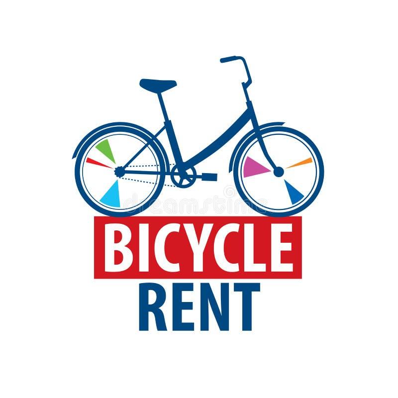 Logo f?r cykelhyra white f?r vektor f?r bakgrundsillustrationhaj stock illustrationer