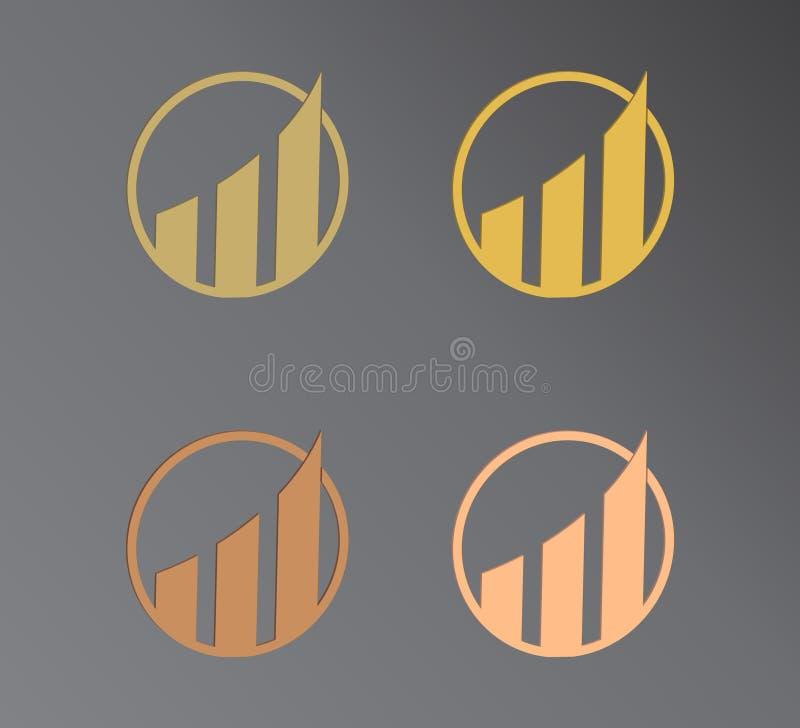 logo f?r design 3d E stock illustrationer