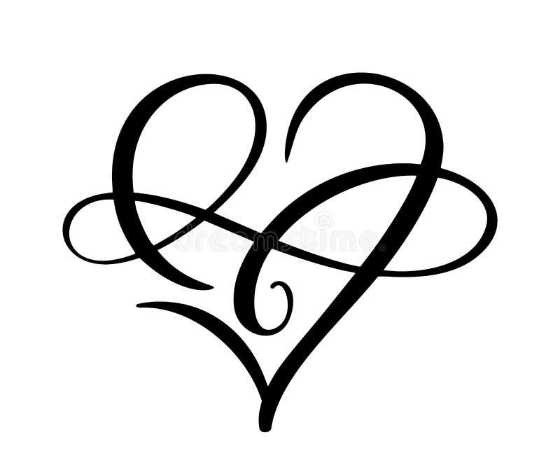 Logo f?r f?r evigt f?r hj?rtaf?r?lskelsetecken Sammanfogar det ankn?t romantiska symbolet f?r o?ndligheten, passion och br?llop M vektor illustrationer