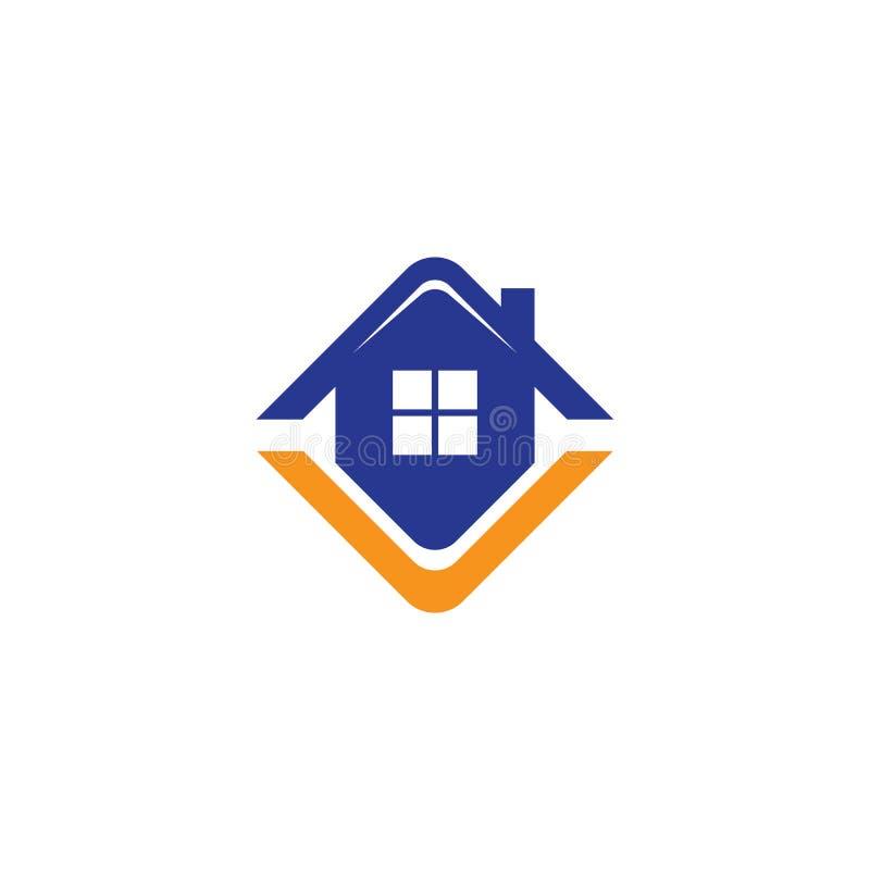 Logo f?r husfastighetaff?r royaltyfri illustrationer