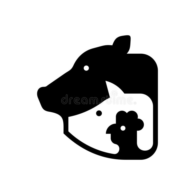 Logo f?r lantg?rddjur stock illustrationer