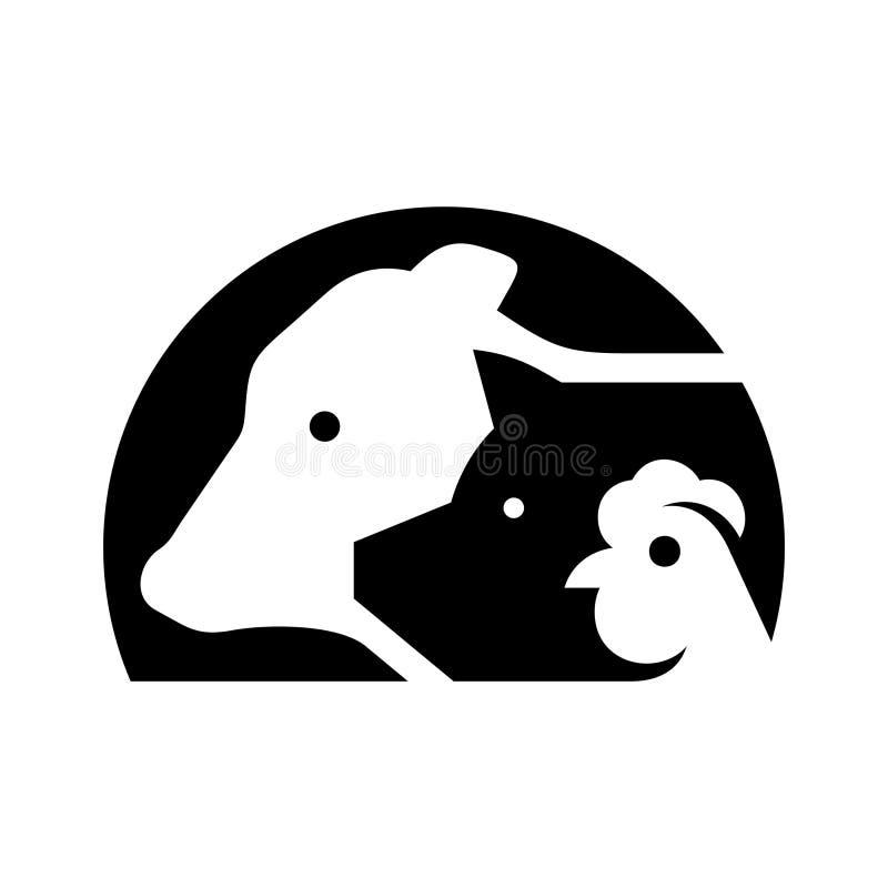 Logo f?r lantg?rddjur vektor illustrationer