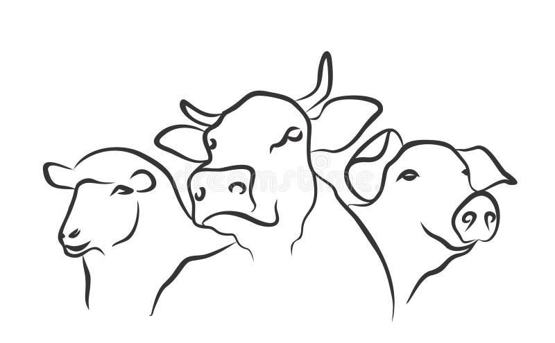 Logo Farm. A logo of animals from a farm