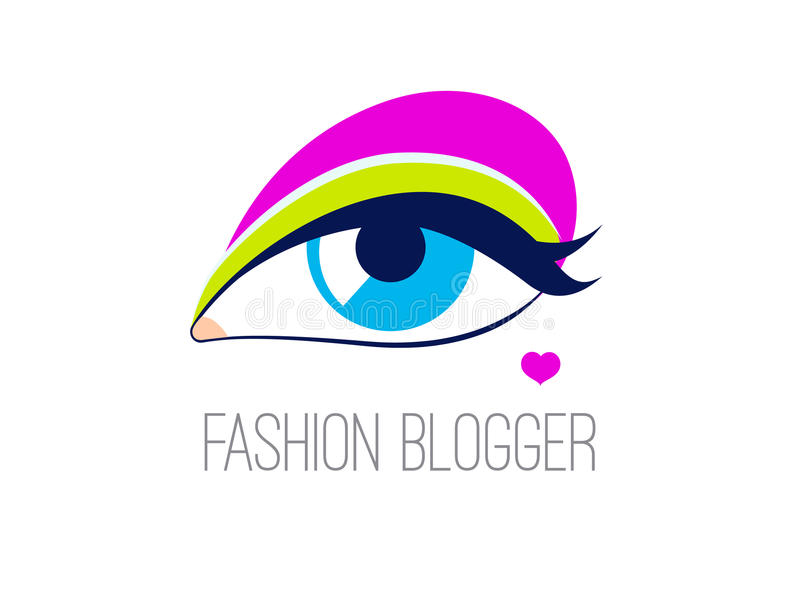 Logo fashion blogger stock illustration