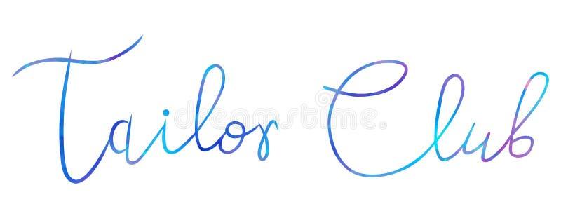 Logo Fashion studio. Custom handmade calligraphy, Vector brush lettering for beauty salon royalty free illustration