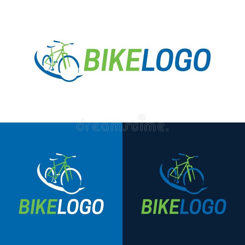 Bike Icon and Logo - Vector Illustration stock illustration
