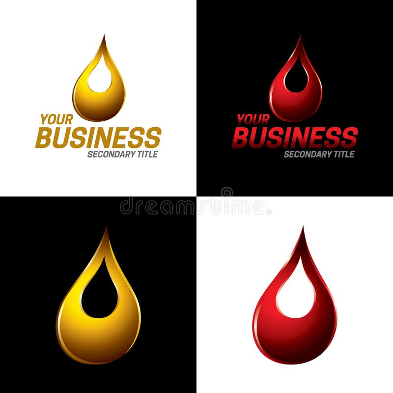 Automotive and Industrial Lubricants Icon and Logo - Vector Illustrati royalty free stock photos