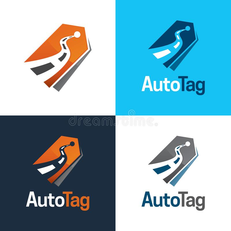 Auto Tag Logo and Icon - Vector Illustration stock photos