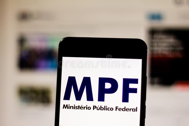 March 10, 2019, Brazil. Logo of the royalty free stock images