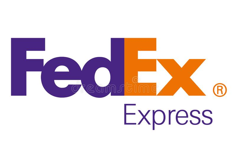 Logo Fedex illustration stock