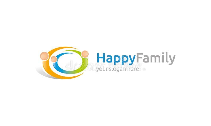 Logo felice della famiglia illustrazione vettoriale
