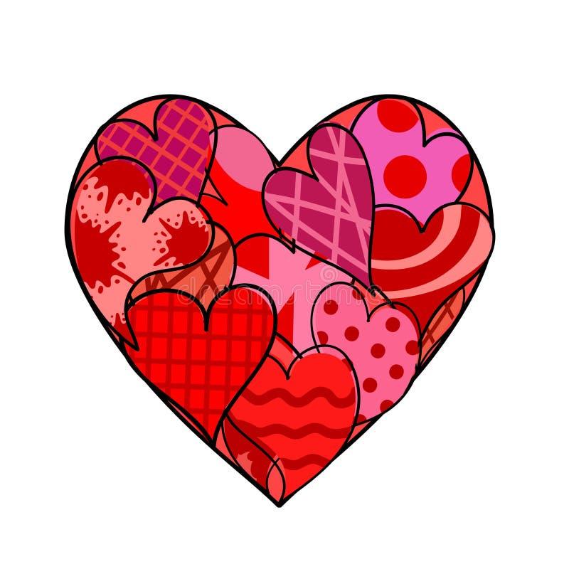 Logo felice di giorno di biglietti di S. Valentino, modello creativo per la cartolina d'auguri, invito, manifesto, insegna, illus illustrazione vettoriale